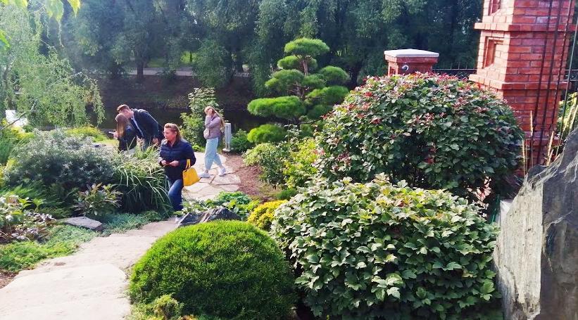 Японский сад камней в Екатеринбурге на Урале